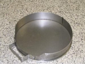 Round replacement ash pan